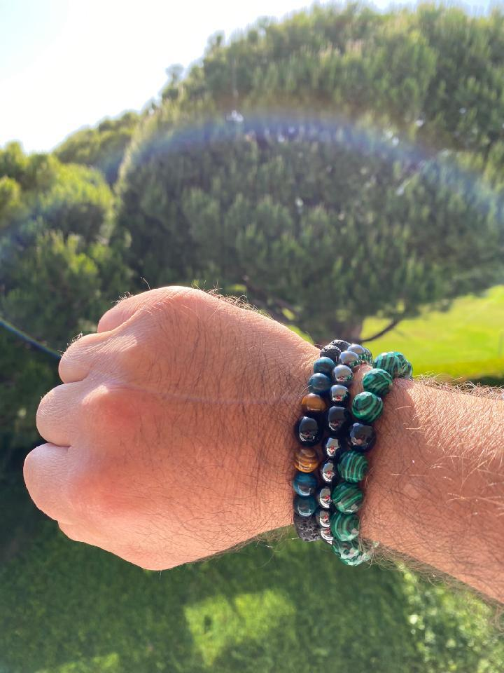 Load image into Gallery viewer, Malachite Onyx Bracelet