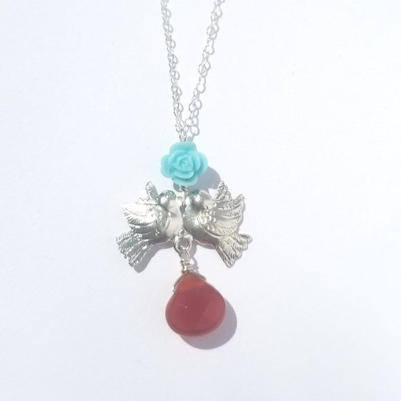 Lovebird Charm Necklace