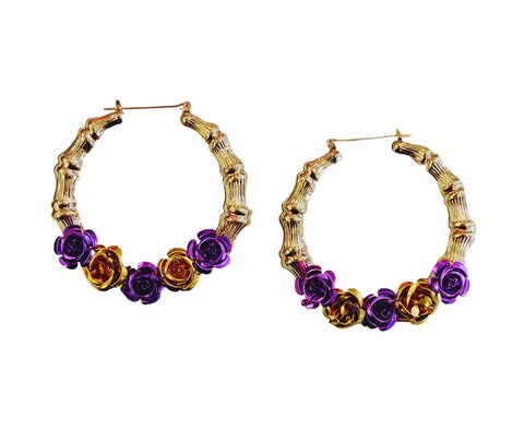 Laker Bamboo Hoop Earrings