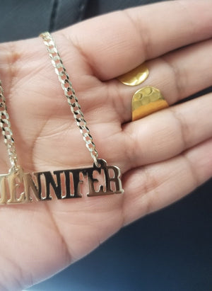 14kt Gold Name Plate Necklace