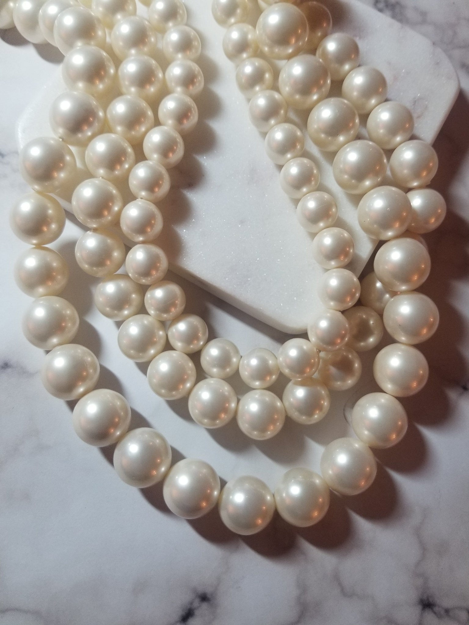 Mother of the Pearl Statement Necklace