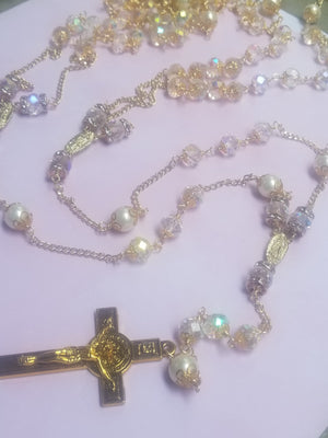 Load image into Gallery viewer, Wedding Lasso Crystal Rosary