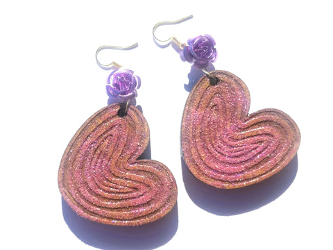 Oreja Flower Glitter Earrings