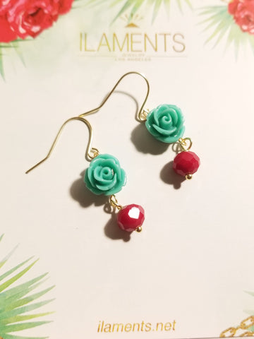 La Flor Crystal Earrings