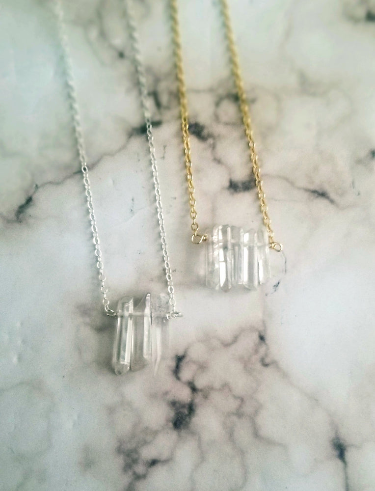 Load image into Gallery viewer, Energy Healing Quartz Necklace