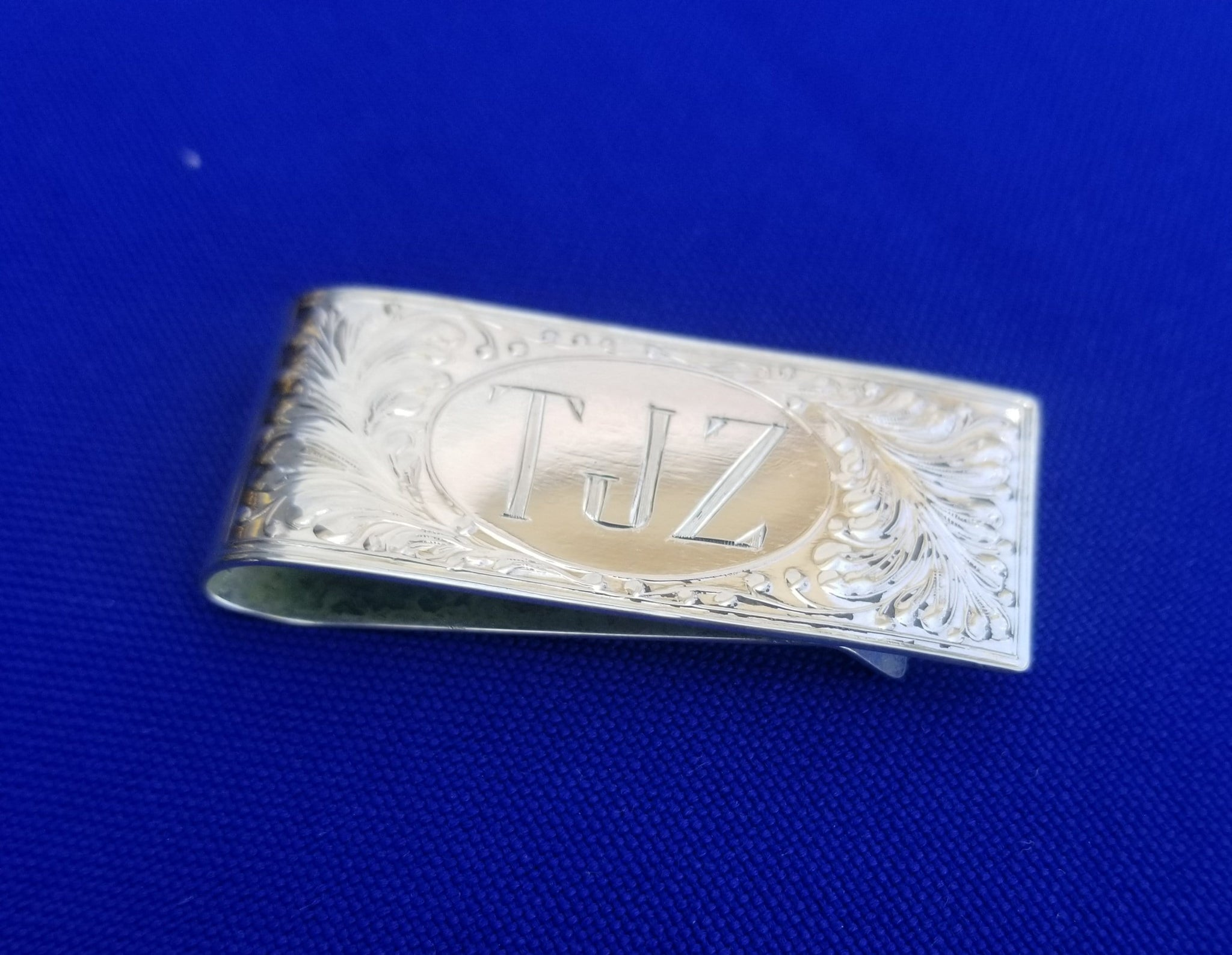 Engraved Sterling Silver Money Clip