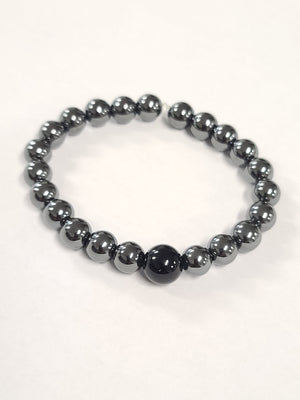 Load image into Gallery viewer, Hematite Onyx Bracelet