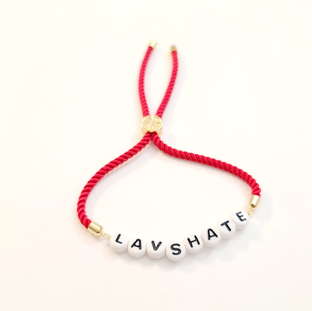 LA VS HATE Red Cord Bracelet