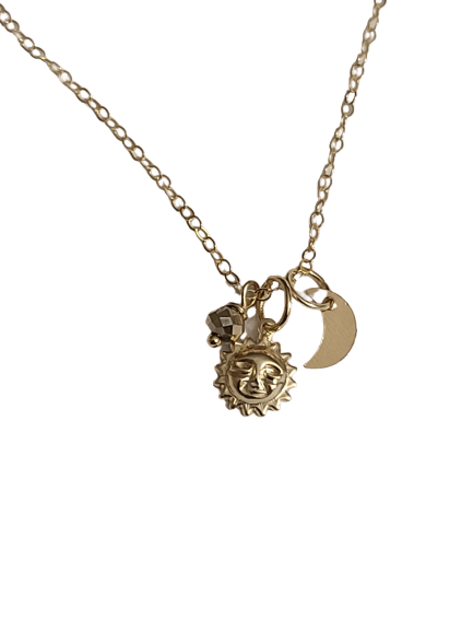 Sun & Moon Charm Necklace