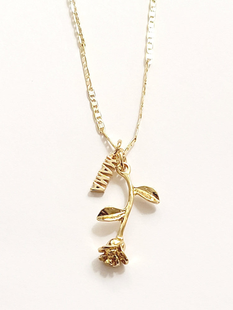 Mama Gold Rose Necklace