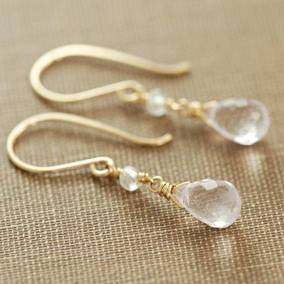Gaia Clear Quartz Dangle Earrings