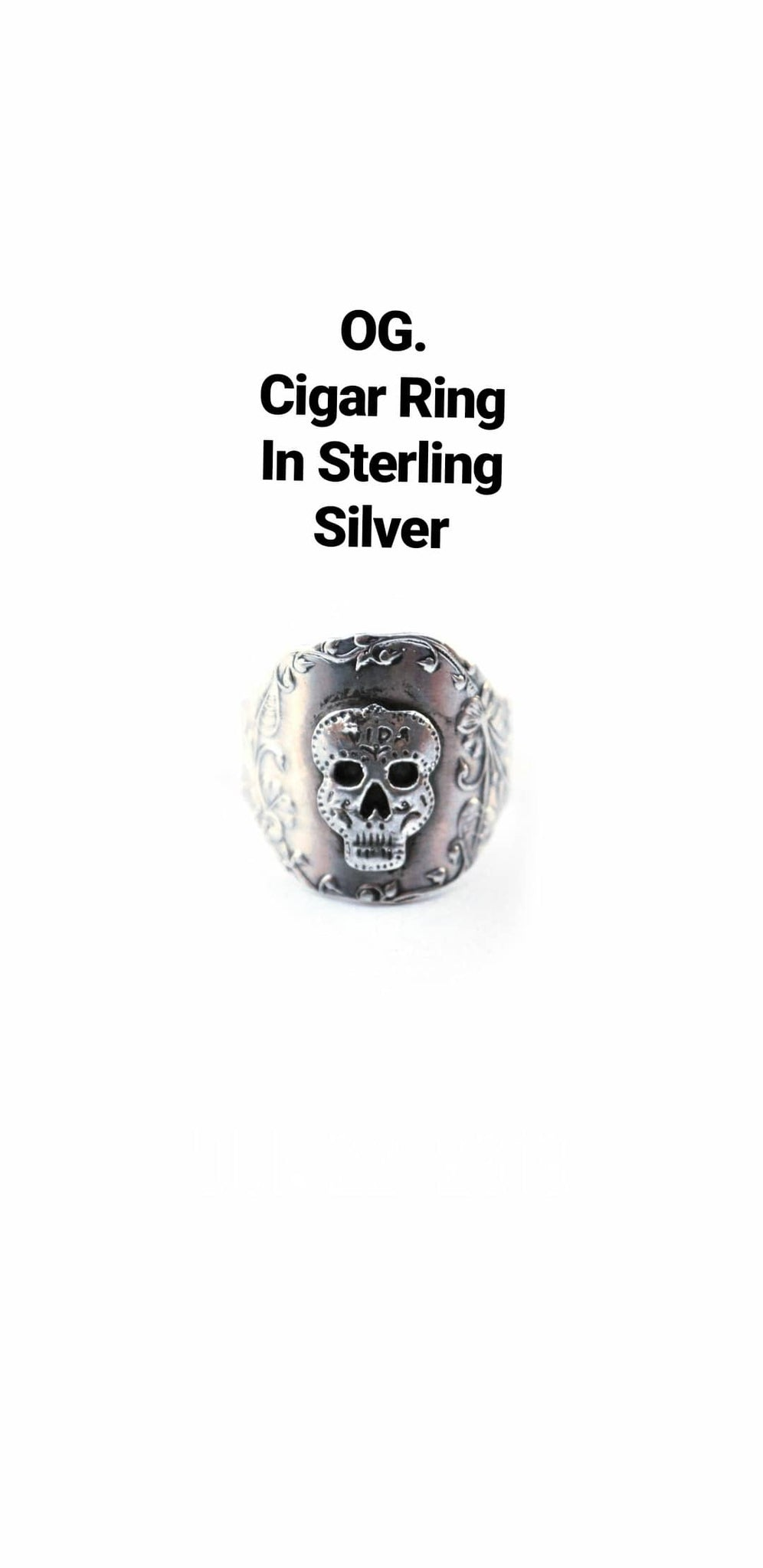 Sugar Skull Cigar Ring