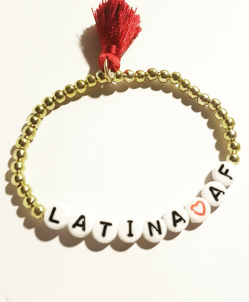Load image into Gallery viewer, Latina AF Affirmation Bracelet