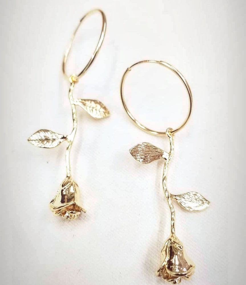 Rosa Drip 14kt Gold Fill Hoop Earrings