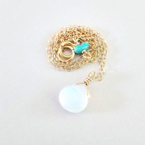 Moonstone 14kt Gold Fill Necklace