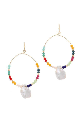 Pearl Crystal Mix Hoops