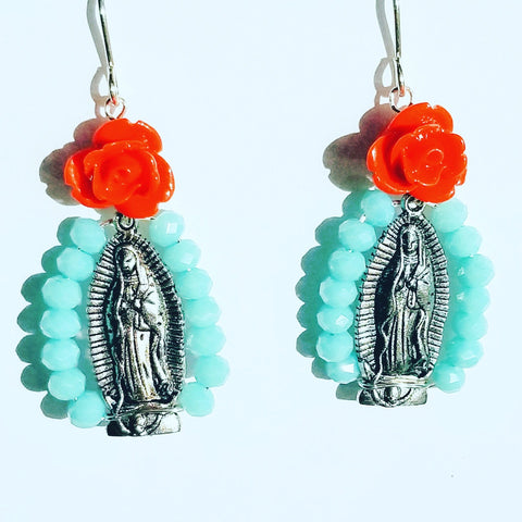 Virgen Altar Crystal Earrings