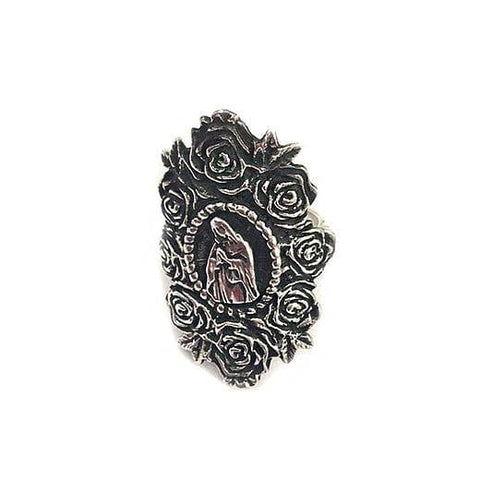 Virgen de Guadalupe Sterling Silver Ring