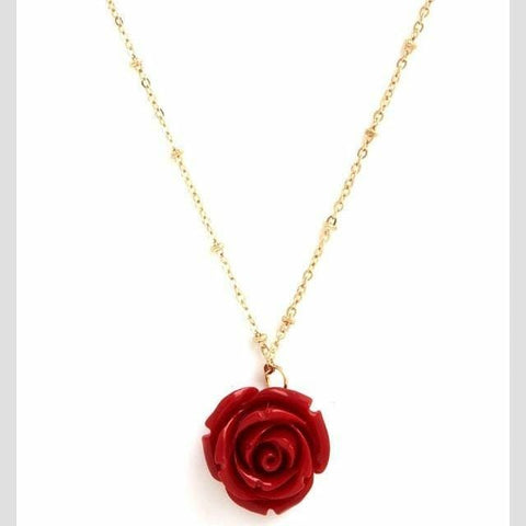 Rose 14kt Gold Necklace