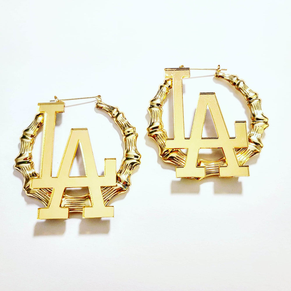 Los Angeles Gold Bamboo Hoops