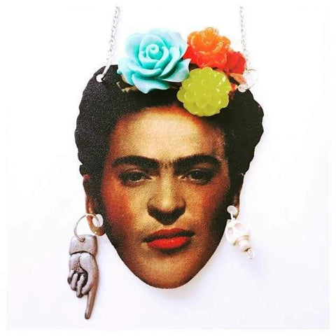 Frida Kahlo Self Portrait Necklace