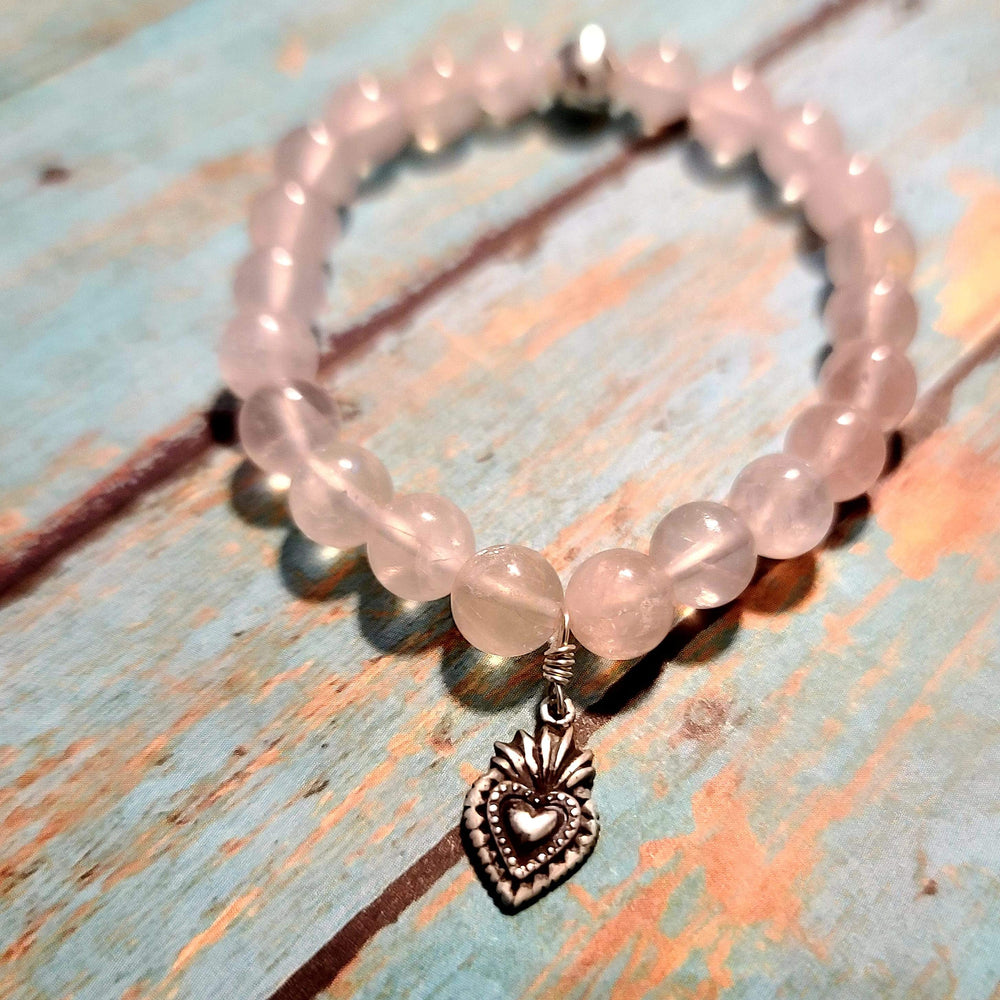 Milagro Heart Rose Quartz Bracelet