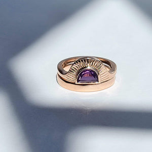 Load image into Gallery viewer, Luna y Sol Engagement Ring & Wedding Band