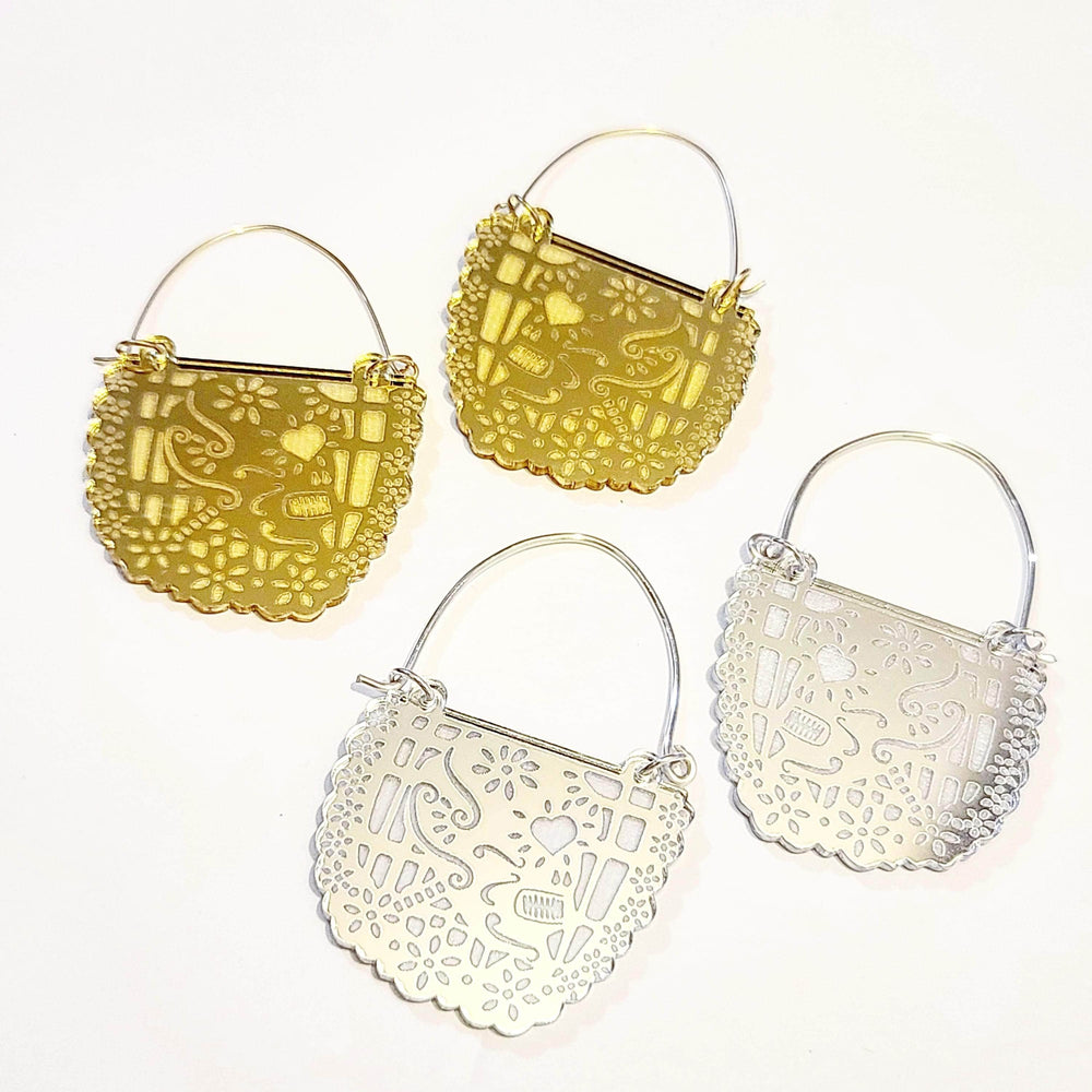 Papel Picado Acrylic Hoop Earrings