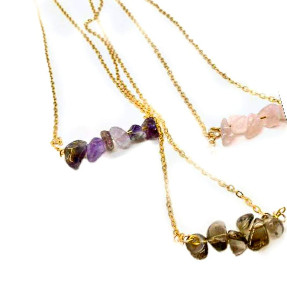 Healing Gemstone Bar Necklaces