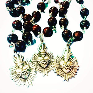 Sacred Heart Rosary Necklace