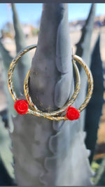 Rosa Hoop Earrings