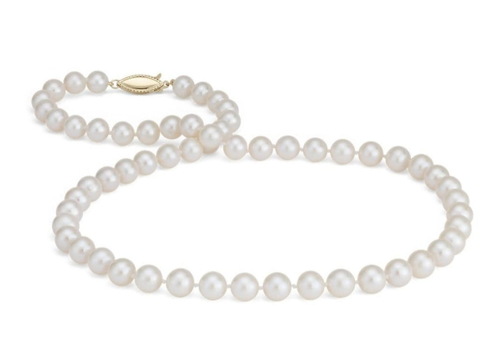 14kt Gold Pearl Knotted Necklace