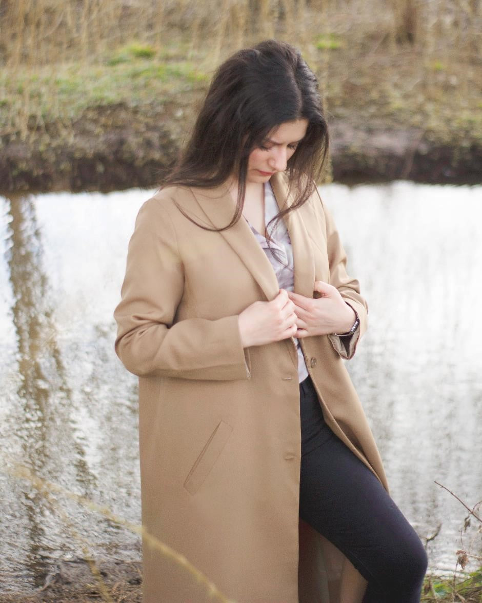 Teyang Long-line Camel Coat