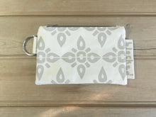 Zipper Wallet-Beige Fabric with Beige 4point