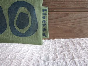 W-LZW-Fern Fabric, Navy Avocado - $15