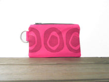 Zipper Wallet-Pink Fabric with Pink Avocado