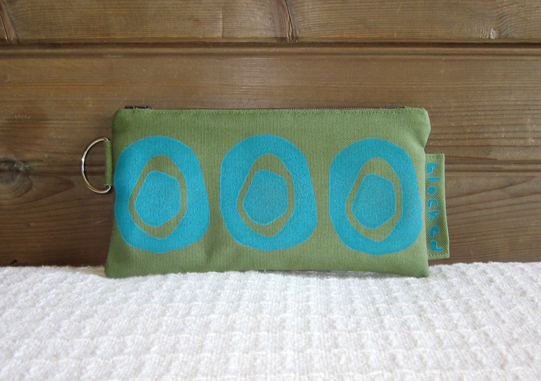 LZW-Aqua Avocado on Fern Fabric
