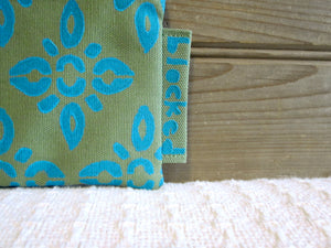 W-LZW-Fern Fabric, Aqua 4point - $15