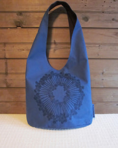 W - HB - Blue Fabric, Navy Urchin - $50