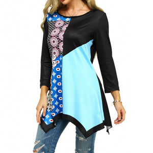 Color Block Printed Tunic