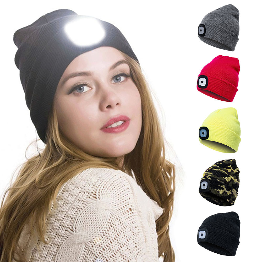 Stay warm and safe while jogging, walking or anything else outdoors in this LED Lighted Hat. This cotton and acrylic knitted unisex hat features a solid color and 3 different brightness modes. Buy one for yourself or give as a gift at this incredible price. Choose from 5 colors. Delivery 4-13 days. From our unique boutique. Description: Pattern: Solid, Material: Cotton, Acrylic, Size: One size fits most, Features: 3 Brightness Modes.