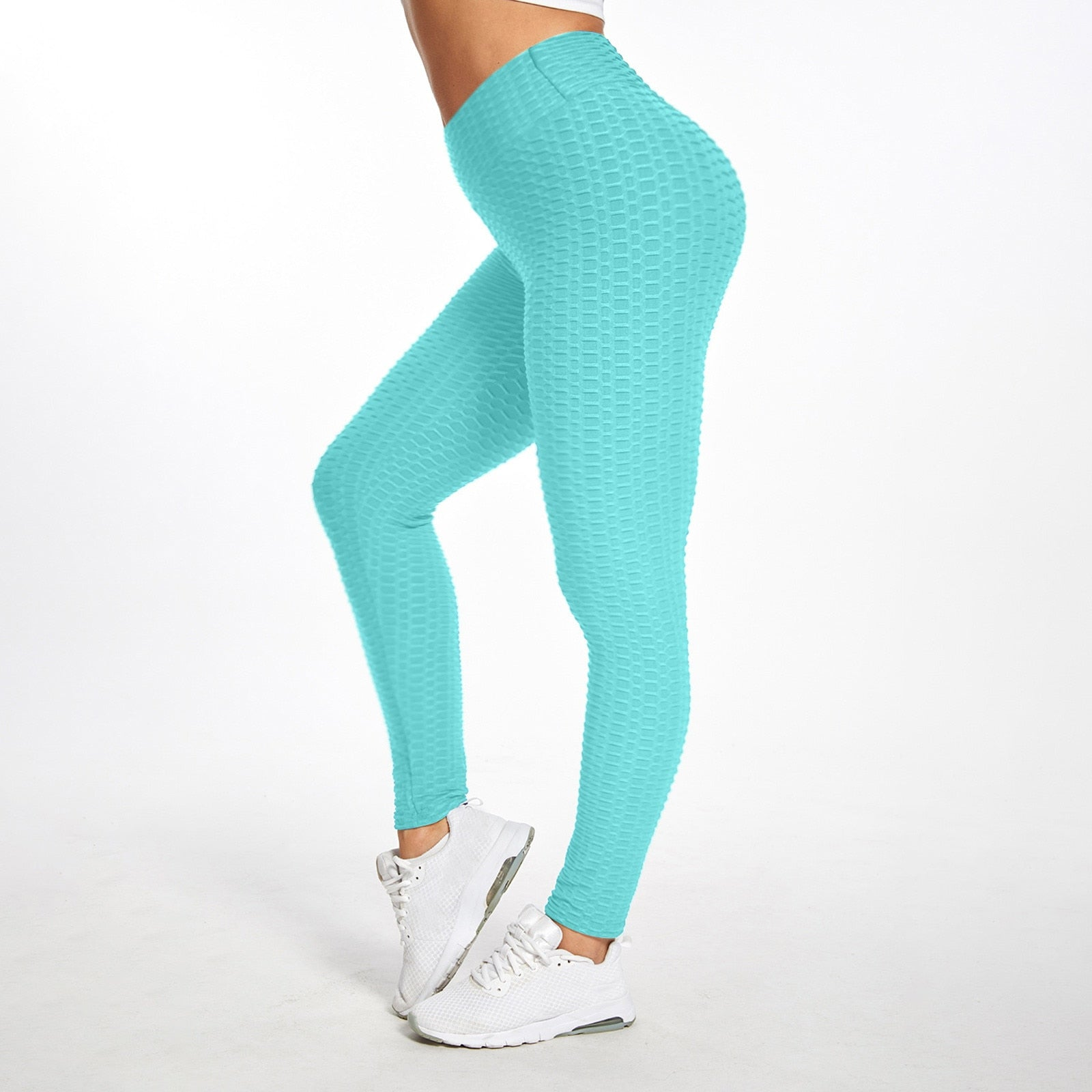 Put on these awesome High Waist Leggings and feel great! They feature a solid pattern, gathered mesh, high elastic waistline, a booty lift, are seamless and ankle length. Choose from 9 fun colors. Delivery 4-13 days. New Arrival. From our Utterly Unique Boutique. Description: Material: Spandex, Polyester, Length: Ankle, Pattern: Solid, Waistline: High, Elastic, Fashion Element: Booty Lift, Gathered Mesh, Seamless.