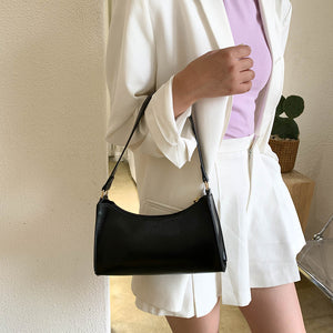 Solid Color Shoulder Bag