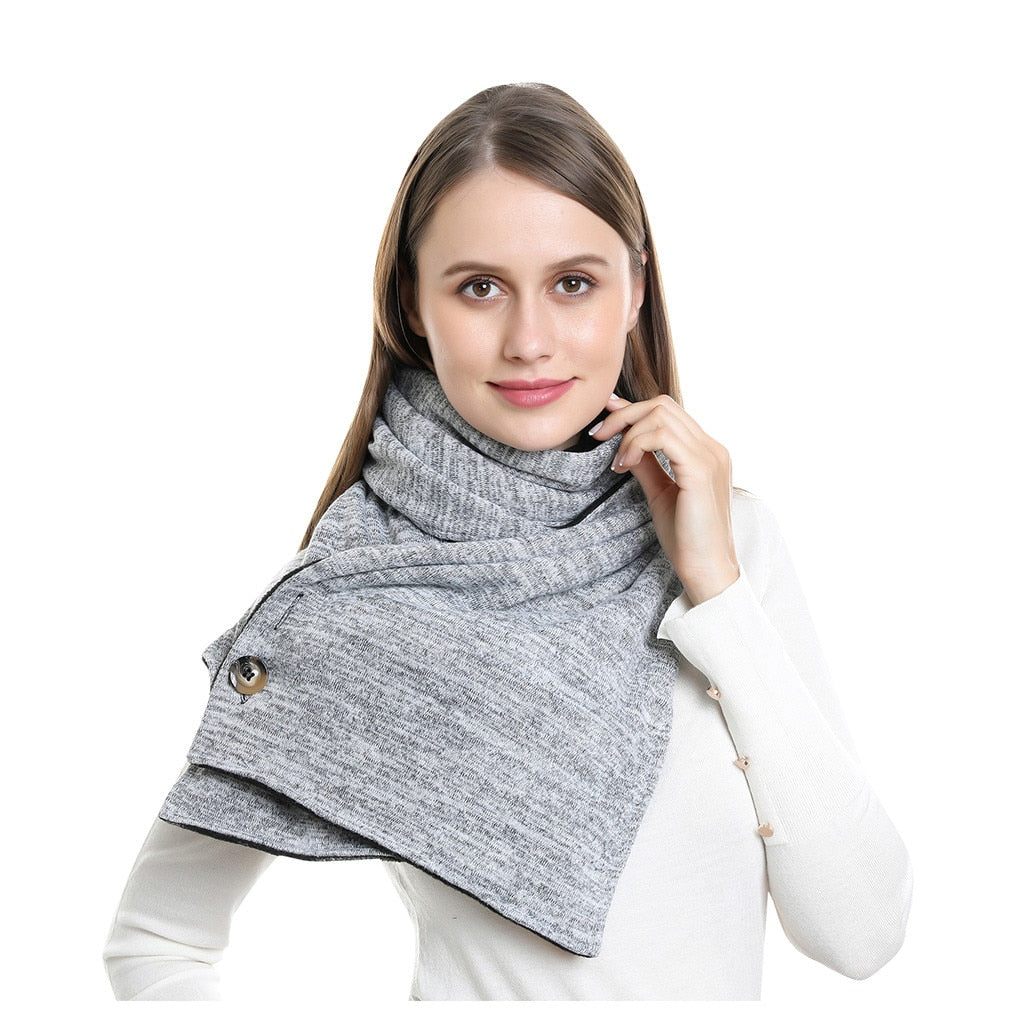 Button Pocket Scarf