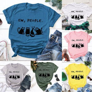 This Cotton Cat Shirt says it all! Featuring short sleeves, a crew neckline and a cat pattern with a saying. Pair with shorts, jeans or pants. Choose from 6 colors. Size S-5XL. Delivery 4-15 days. From our Utterly Unique Boutique. Description: Material: Cotton, Sleeve Length: Short, Pattern: Cat, Neckline: Crew.