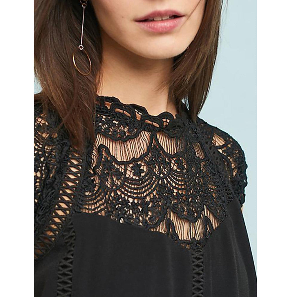Scalloped Sleeve Lace Top