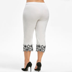 Floral Applique Capris
