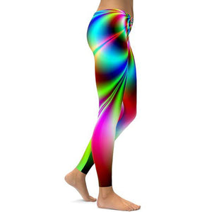Multi-Colored Neon Leggings