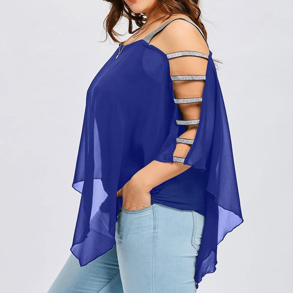 Chiffon Hollow Out Top
