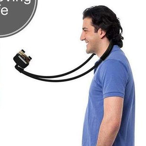 Ultimate Phone/Tablet Holder - Utterly Unique Boutique - 12.99 - FREE SHIP - This is the ultimate, multi-functional smartphone or tablet holder. Use it lying down, standing, on a desk or table top, as a selfie stick or place it around the headrest in a car or use it around your waist. The possibilities are endless. Once you use this, you won't be without it. Featuring a padded/non-slip/shockproof neck support, 360